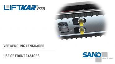 LIFTKAR PTR oruga subeescaleras - uso de ruedas giratorias