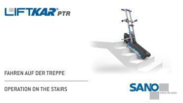 LIFTKAR PTR oruga subeescaleras - operación en las escaleras